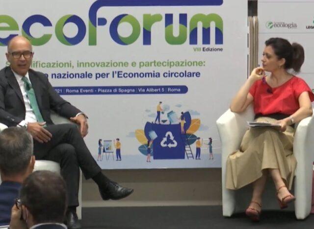 L'a.d. Codognola intervistato da Tonia Cartolano a Ecoforum